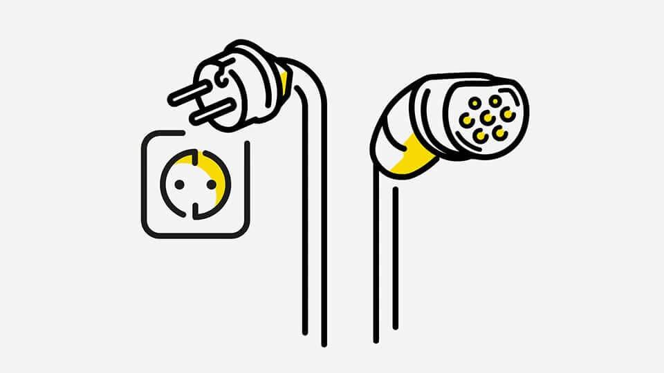 Opel e-mobilnost - Kabeli: kućna utičnica, ilustracija
