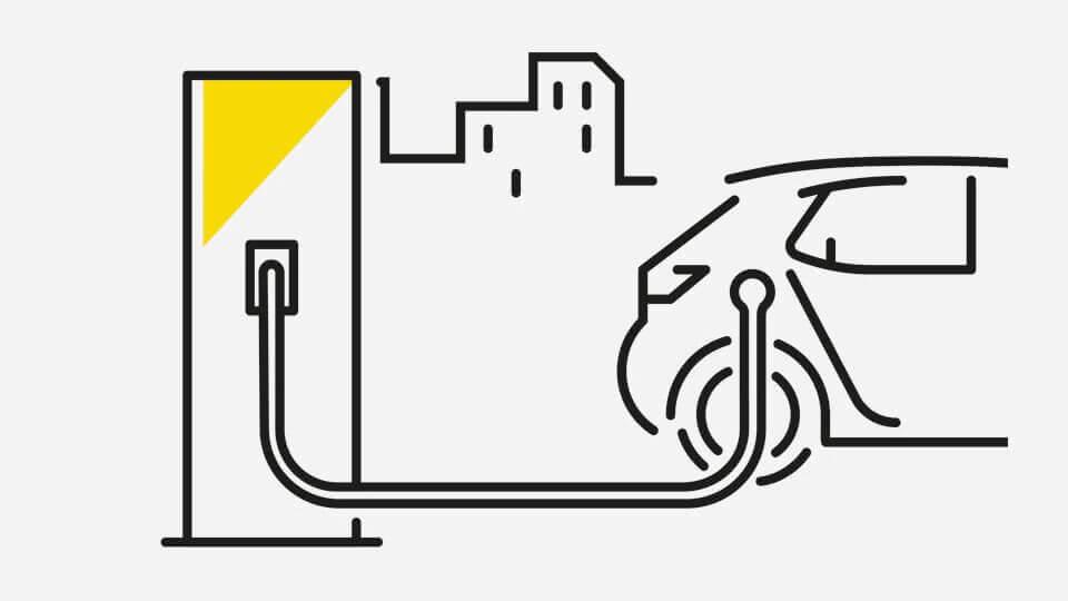 Opel e-mobilnost - Kabeli: Brzo punjenje na javnim punionicama, Ilustracija