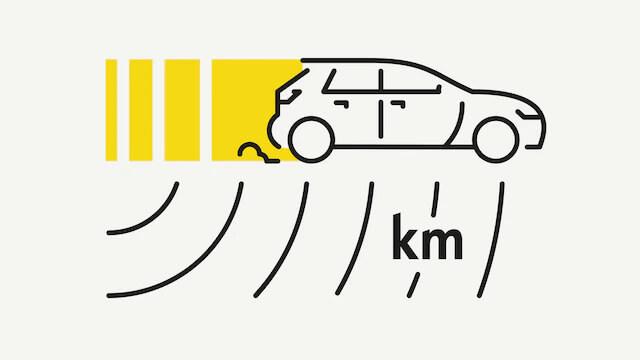 Doseg električne vožnje.